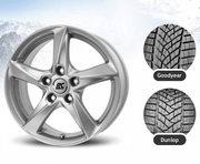 Pneu360 225/45R17 91H Dunlop Winter Sport 5 XL MFS + Brock RC30 KS 7x17 5x112 ET40,47 57,1
